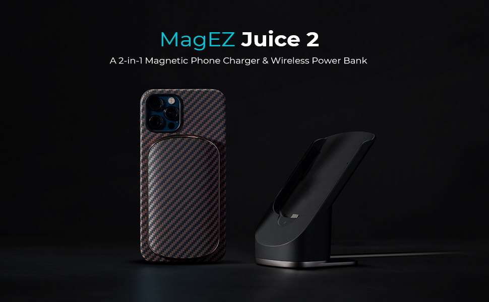 PITAKA MagEZ Juice 2 magnetic wireless charging stand and power bank