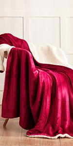 Wine Red Sherpa Blanket