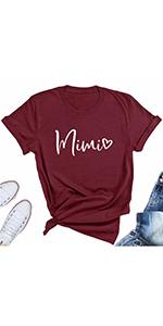 Women's Mimi Heart Grandma Funny T-Shirts