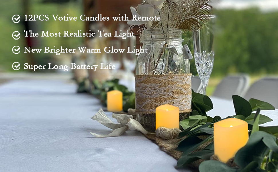 votive candles with remote control