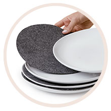 Felt dividers for dishes