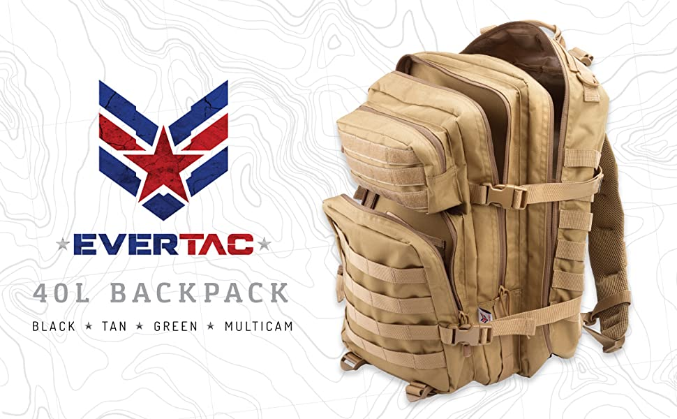 Evertac 40L Backpack header