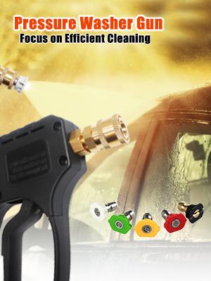 washer pressure power short gun wand high hose accessory kit  attachment nozzle   wash 4000 5000 psi