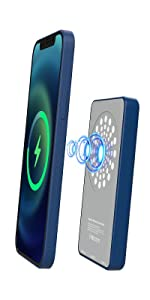 Magnetic Wireless Power Bank 5000Mah Charger(blue)