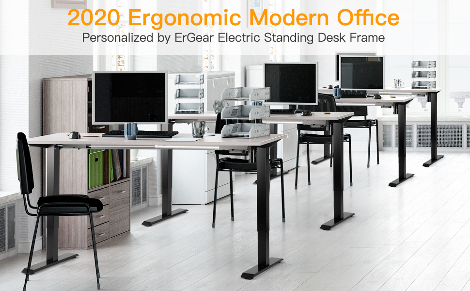 quick and easy height adjustment eletric computer office desk frame leg base