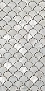 Soulscrafts Seamless Super White Mother of Pearl Square Mosaic Tile Sheets Kitchen backsplash-9