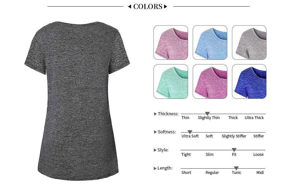 Viracy Womens Short Sleeve Workout Tops Yoga Activewear T-Shirt