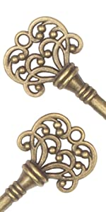 Classic Antique copper skeleton key bottle opener party favor