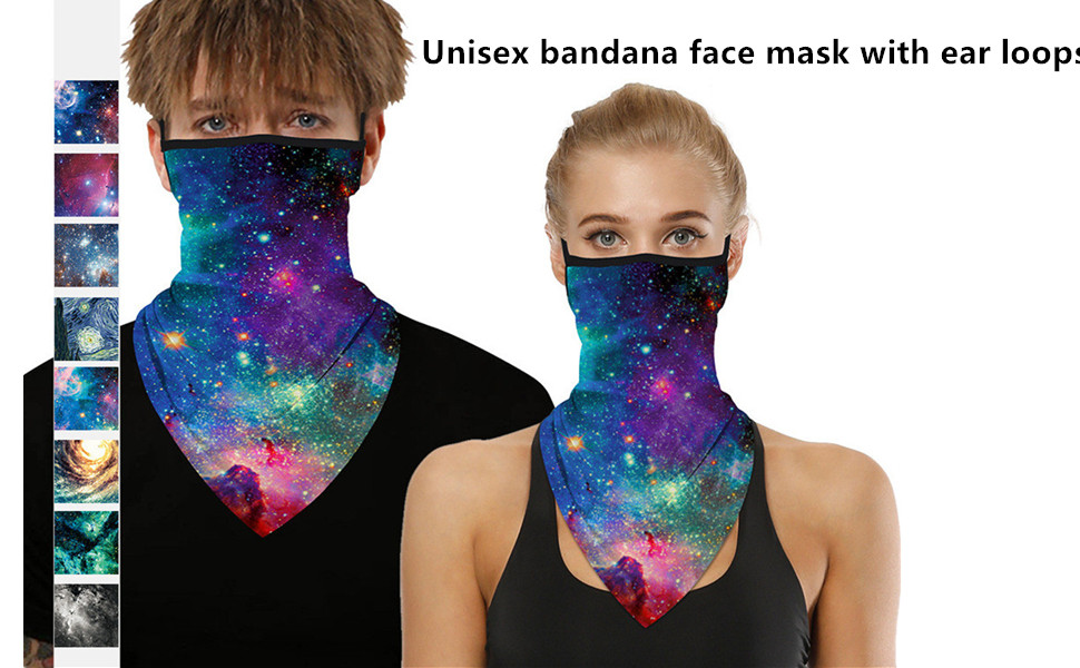 mask with ear loops neck gaiter pcs