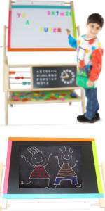 easel drawing board chalck board magnetic lettersfor kids