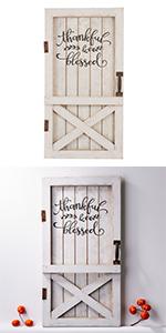 Thanksgiving Wooden Barn Door Standing Wall Décor