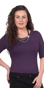 1245 modest boat neck elbow sleeve layer undershirt base kosher