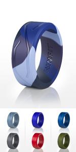 Blue Camo Flexible& Active Wedding Rings