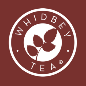 Whidbey organic tea bags logo