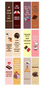 Chocolate lover bookmark