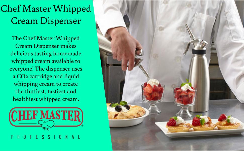 chef master whipped cream dispenser whipping cream chargers cream dispenser cream chargers