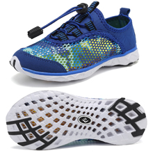 blue camo mesh upper toddler kid water shoes