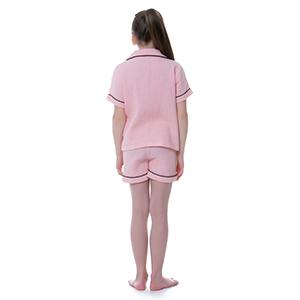 girl boy cotton gauze pajama set loungewear homewear