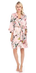 Pink Floral Robes