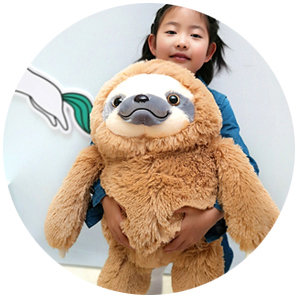 The Sloth is So Soft and Fluffy!