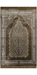 Modefa Ipek Velvet Islamic Prayer Rug Turkish carpet mat janamaz sajjadah