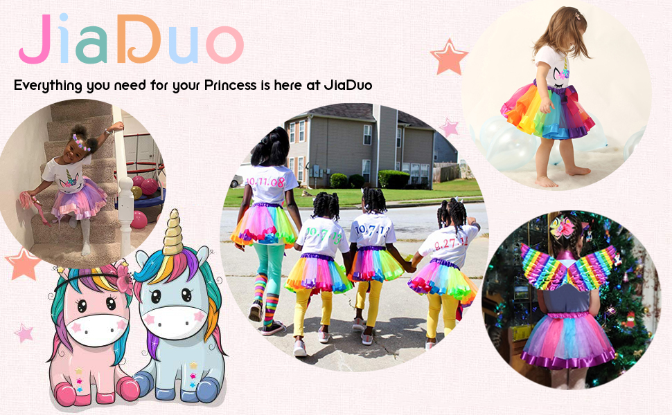 unicorn costume rainbow tutu
