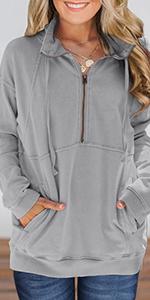 zip up pullover sweatshirt