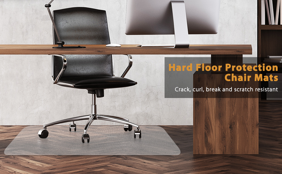 Elegear Hard Floor Chair Mat Home Office Non Breakable Clear Floor Mat Laminate And Tile Floor Protector For Office Desk Chair Easy Glide No Curling 47 X 35 0 05 Thickness
