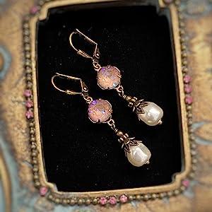 raw crystal earrings for short hair