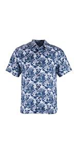 Men's 100% Silk Relaxed-Fit Camp Shirt