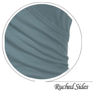 Womens Tops with Ruched sides