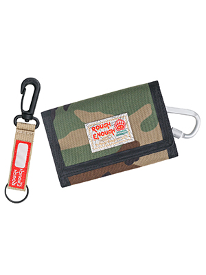 Rough Enough keychain camo boys kids first wallet for outdoor travel sport party unique gift school