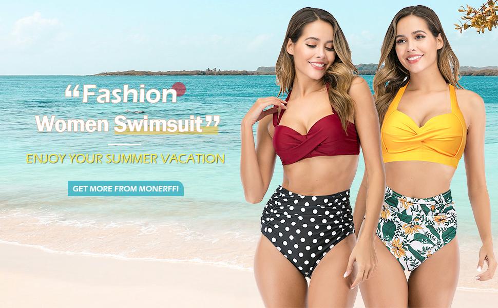 halter floral print tankini sets two piece swimsuit tankini tummy control high waist ruffle swimwear