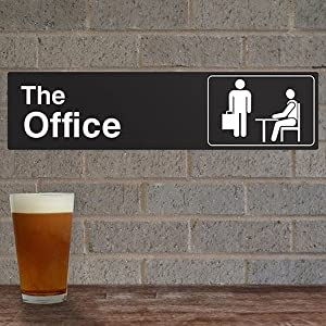 the office accessories metal sign from nbc dunder mifflin scranton official fan gifts swag stuff