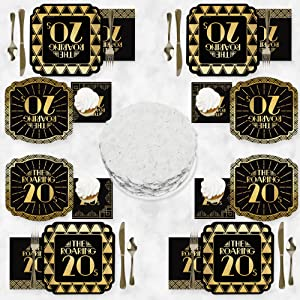 Roaring 20's Party Tableware & Theme