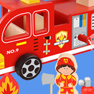 truck accessories fire truck toy wood