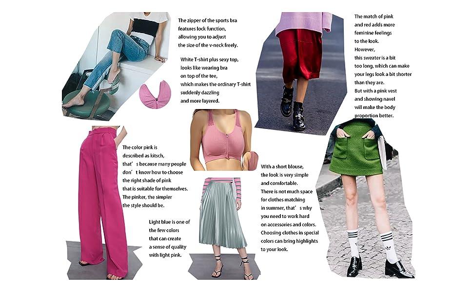 sports bra for women zip pink