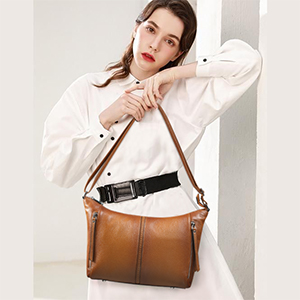 leather hobo handbag