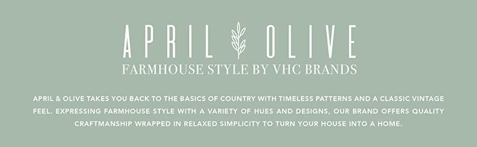 vhc brands, april & olive, farmhouse