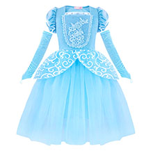 Dresses for Girls Costume Dress Princess Birthday Party Cosplay Outfits Tutu A+HG022 details-1