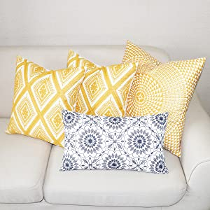 gold throw pillow covers