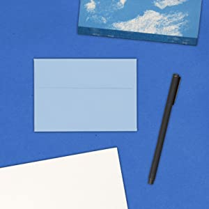 baby blue A1 4bar colored envelope