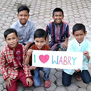 orphans holding sign
