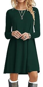 Drak green dress