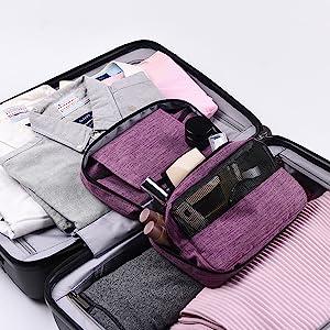 portable travel toiletry bag
