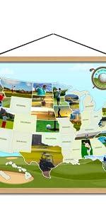 Golf-themed Photomap