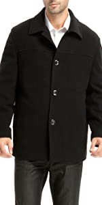 "BGSD Men's ""Matthew"" Wool Blend Car Coat"