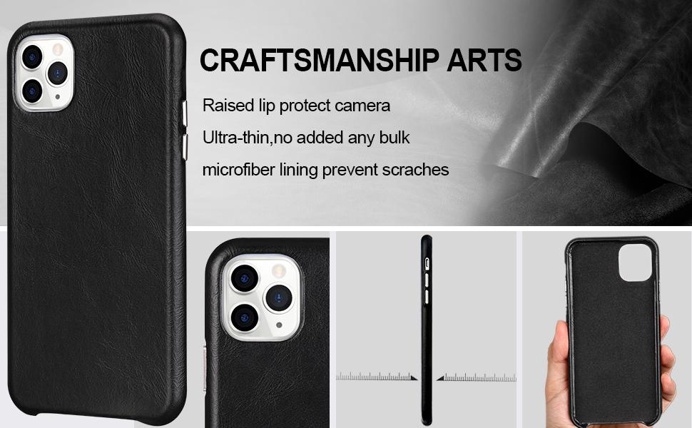 2.TOOVREN Handmade iPhone 11 Pro Max Leather Case