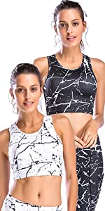 patterned sports bras (pack of 2)