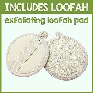 pureSCRUBS Lemongrass Body Scrub Includes Loofah